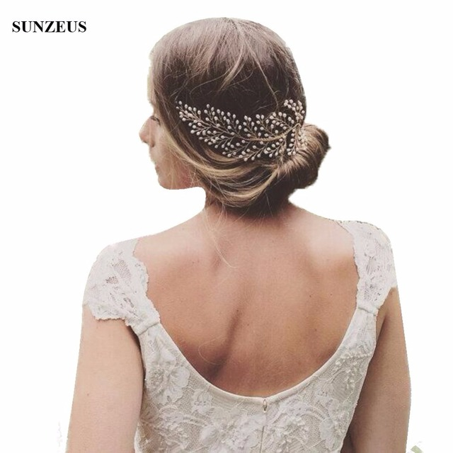 2018 Hot-selling Pearls Hair Pieces Gold Comb Bridal Head Accessories Vintage Style Hand-made Headpiece SQ0143