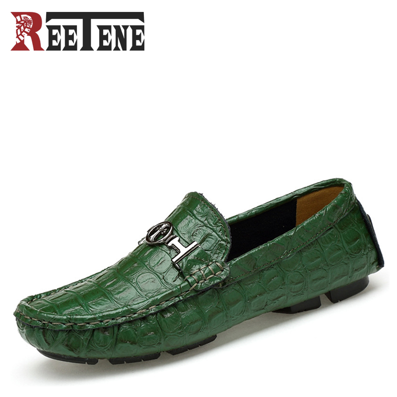 New Genuine Leather Men Loafers Fashion Men's Casual Shoes Slip On Breathable Driving Shoes Male Peas Shoes Plus Size 48 49 50 big size 39 48 men flats summer genuine leather loafers breathable driving shoes moccasines slip on male casual shoes xk032808