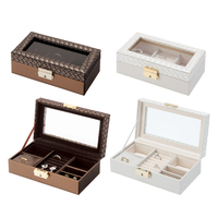 Japanese mirror automatic Jewelry Box Packaging Casket Makeup Storage Box For Exquisite Cosmetics Beauty Organizer Container Box