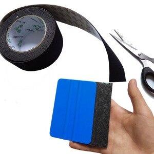 Image 5 - Raclette demballage en Film vinylique de voiture, consommable, 5cm/rouleau, bord en feutre, tissu noir, 3M, feutre de rechange, A08 5M
