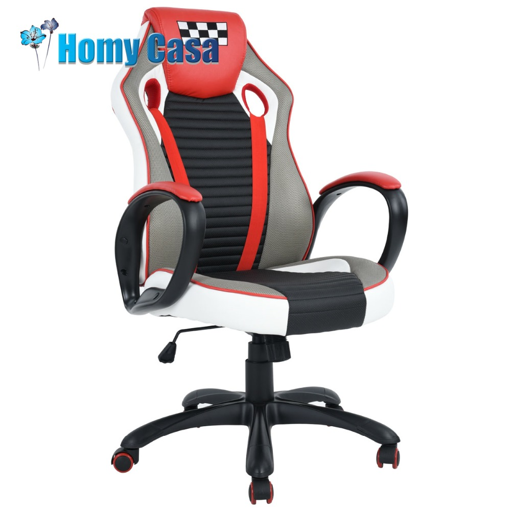 HOMY CASA adjustable height Reclining Office chair Game armchair Computer gaming gamer r ...