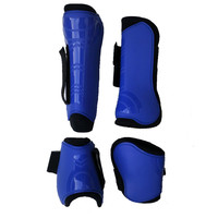 4 PCS Horse Riding Equestrian Equipment Horse Legging Protector Horse Riding Equipment Horse Bracers Soft PU