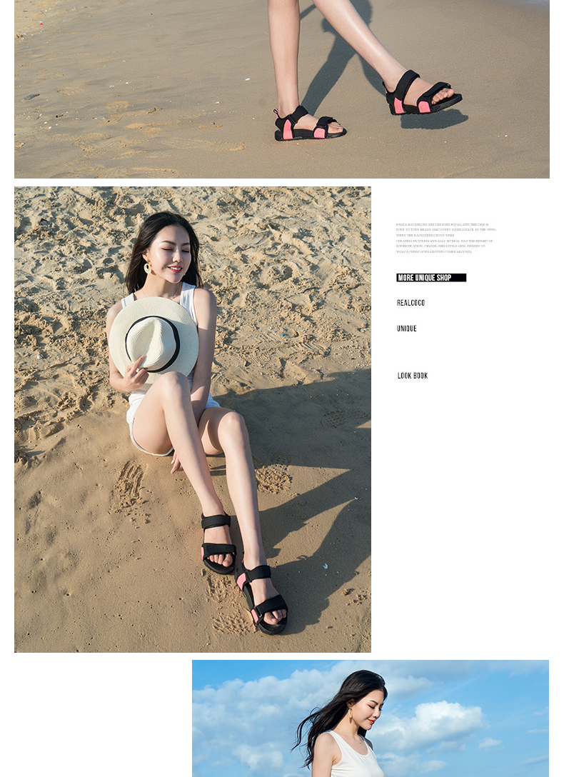 summer ladies thick-bottom Roman sandals breathable beach shoes non-slip gladiator sandalias mujer 2019 women footwear 11