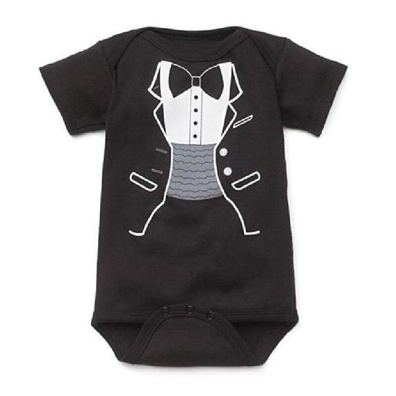 Hooyi μωρό καροτσάκι μαύρο Tuxedo πιπίλες Gentleman μωρό Ρούχα σώμα bebe φόρεμα παιδικά