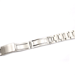 Image 4 - Rolamy Watch Band 17 18 19 20mm 316L Stainless Steel Silver Brushed Strap Old Style Oyster Bracelet Straight End Screw Links