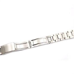 Image 4 - Rolamy saat kayışı 17 18 19 20mm 316L Paslanmaz Çelik Gümüş Fırçalanmış Kayış Eski Stil Oyster Bilezik Düz Uçlu Vida linkler