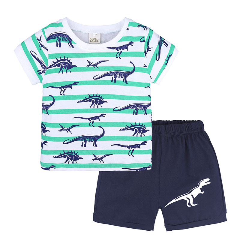 Fashion Kids Girls Clothes Set Summer Children Boys Cltohing Sets Cotton T shirt Tops And Shorts Cartoon Kids Clothing Suits