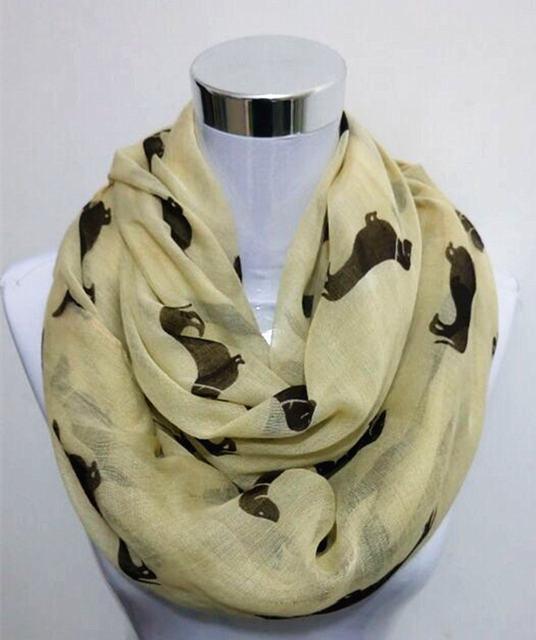 bb4ecedae526 Nouvelle mode 10 couleur Animal Teckel Chien Imprimer Écharpe Pashmina femmes  foulards