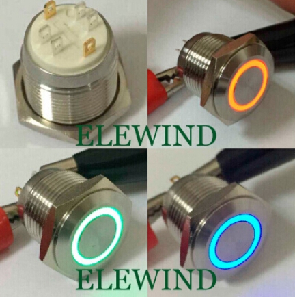 ELEWIND 16mm 3 led color ring illuminated push button switch(PM161F-10E/J/RGB/12V/S 4pins for led) elewind 16mm 3 led color ring illuminated push button switch pm161f 10e j rgb 12v s 4pins for led