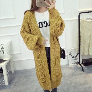 YAGENZ Ladies Knitted Sweaters Long Cardigan Women Coat Spring And Autumn Clothes Long Jacket Women Tops Knit Sweater Coat 262
