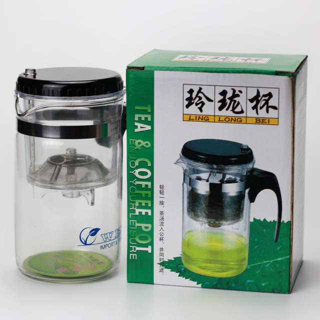 500ml Convenient Brewing Office Tea Set Heat Resistant Gl Pot Connoisseur Brewer