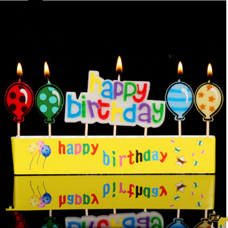 HAPPY BIRTHDAY Candle Cake Candles 18 Style Chose New Arrival Birthday Decoration Home Party Use Ideal Gold Silver