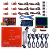 Reprap Ramps 1 4 Kit Mega 2560 Heatbed Mk2b 12864 LCD Controller DRV8825 Mechanical Endstop Cables