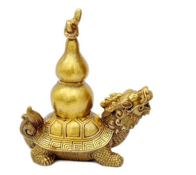 Le support en cuivre Paul Froude dragon ornements bénédiction devant 2016 tortues Wang Paul Choi protection de la richesse de bon augure