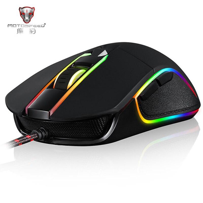 Motospeed V30 Professionelle Gaming Maus USB Verdrahtete Optische Maus Einstellbar 3500 dpi Auflösung RGB Led-hintergrundbeleuchtung für PC Gamer