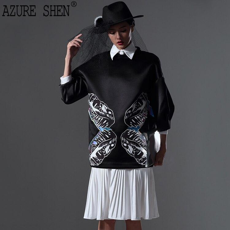 [EWQ] Tailor-made Spring Loose Pleated Women Dress 2018 Casual Classic Turn-down Collar Button Long Sleeve Vestidos AZ34L