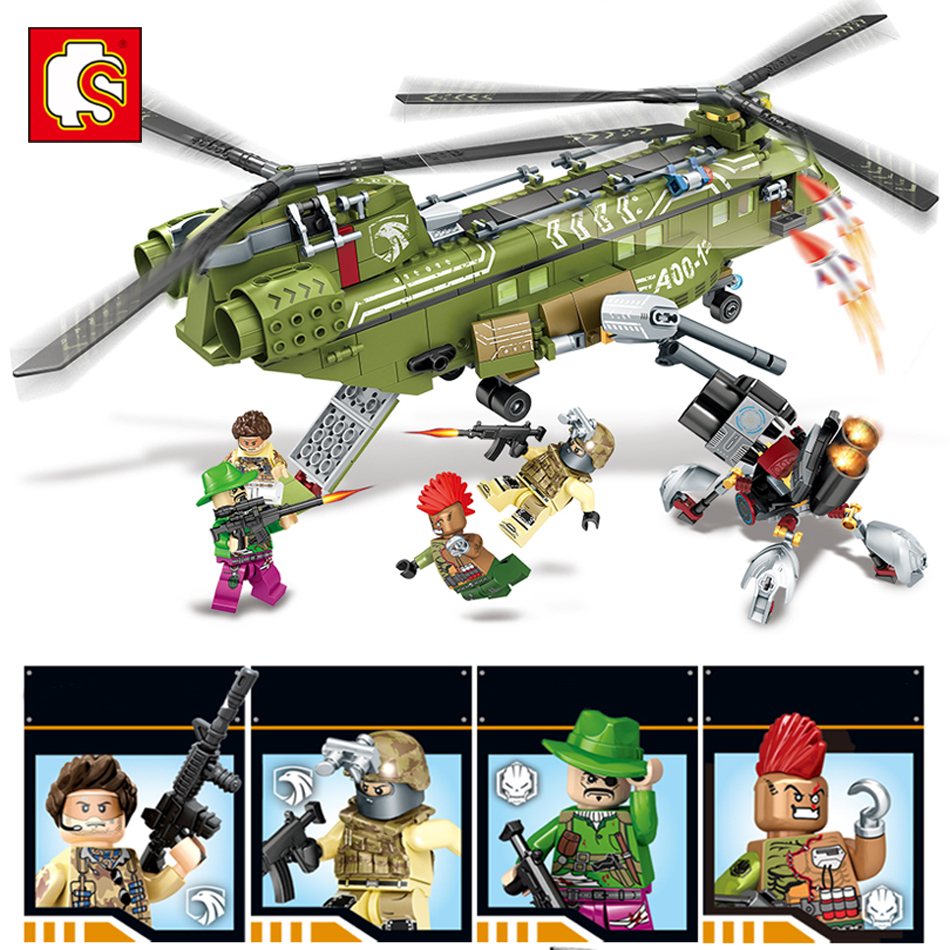 Sembo block Black Gold Military series building blocks Compatible Legoes Helicopter army enlighten bricks toys for children gift decool 2114 building blocks military uh 60 black hawk plane airplane helicopter bricks blocks children toys compatible with lego