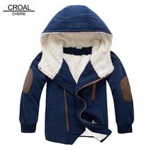 CROAL CHERIE Thicken เด็กเสื้อฤดูหนาว Active เด็ก Windbreaker กำมะหยี่อบอุ่นขนแกะเด็กเสื้อผ้าเด็ก Parkas 100 150 เซนติเมตร