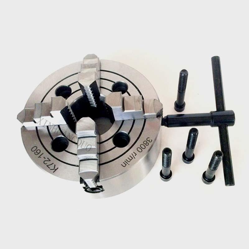 K72 160 4 顎チャック/160 ミリメートルマニュアル旋盤チャック/4 ジョー独立したチャック 6 ''4 顎チャック可逆  グループ上の ツール からの チャック の中 1