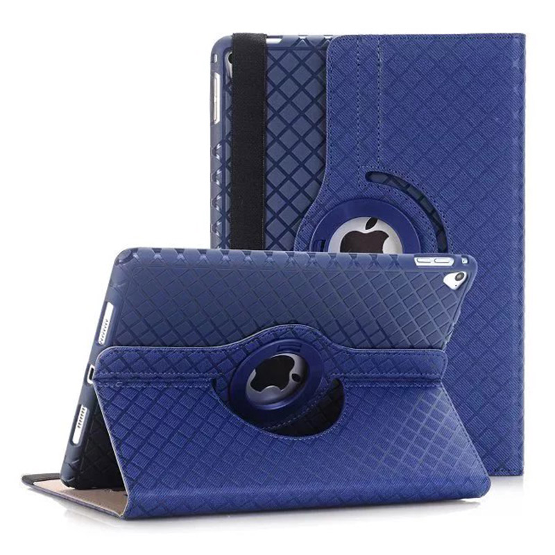 360 Rotating PU Leather+TPU Flip Case For iPad 6 Air 2 W/Stand Cover For iPad Air 2 Fundas Coque With Card Slots