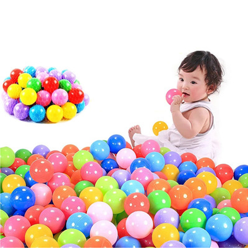 100 Pcs Colorful Play Balls Soft Plastic Non-Toxic Phthalate-Free Crush-Proof Pit Balls Baby Kids Toy Swim Pit Toys