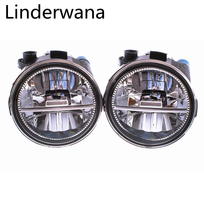 Fog Lamp Assembly Super Bright Fog Light For NISSAN Note E11 MPV 2006-2015 Led Fog Light 2Pcs cawanerl 2 x car led fog light drl daytime running lamp accessories for nissan note e11 mpv 2006