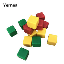 15Pcs/Lot 16mm Blank Dice High Quality Acrylic Square Corner Can Write Blank Dice Set Creative Children Teaching DIY Yernea(China)
