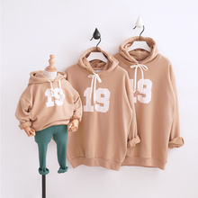 HT2112 Spring Autumn Clothing Mother&Daughter/Father&Son Clothes Family Matching Outfits Kids Tops Sweatshirt Hoodie Child Tees