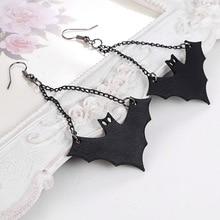 Halloween bat drop earrings
