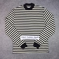 Best version fear of god 2017 Striped Mock Neck LS oversize Long Sleeve T Shirt tee