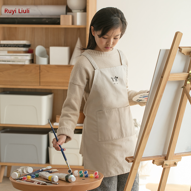 Children's Drawing Apron Female Fine Arts Students Dedicated To Children's Home Lovely Baking Dirt Waterproof Clothes