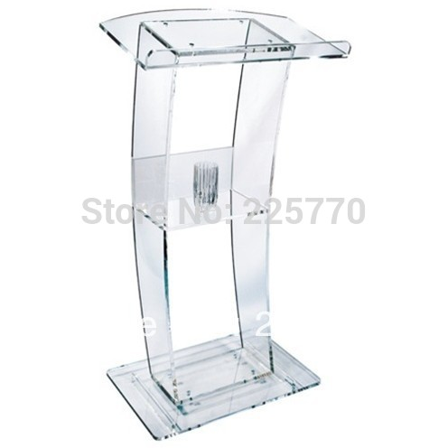 Free Shipping High Quality Price Reasonable Cheap Clear Acrylic Podium Pulpit Lectern Plexiglass