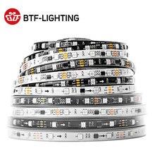 Tira de luces LED WS2811 5050 SMD RGB, bobina de luces Led direccionables, control IC, 3 ledes brillantes normales de DC12V, 30 48 60 96, 144 ledes externos