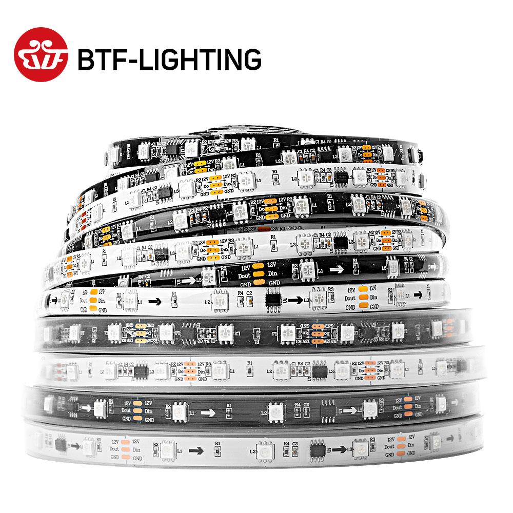 WS2811 5050 SMD RGB Strip Addressable 30/48/60/96/144leds/m Led Pixels External 1 Ic Control 3 Leds Normal/Bright 5m DC12V