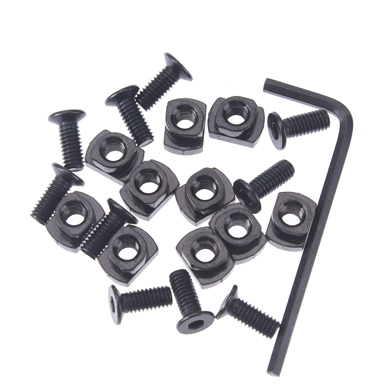10 Pcs Screw And Nut Replacement For MLOK Handguard Rail Sections Hunting