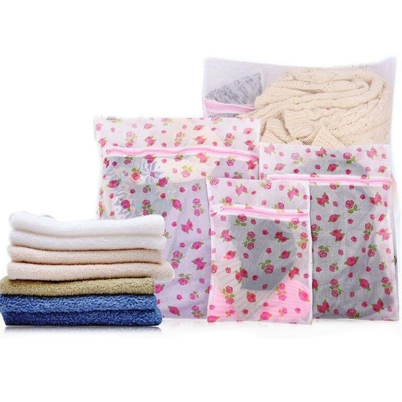 Cartoon Print Women Hosiery Bra Washing Lingerie Wash Protecting Mesh Bag Aid Laundry Saver  3 Size Laundry Bags 1 PCS