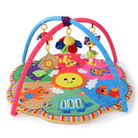 Six Animal Patterns Soft Baby Play Mat 0 12 Months Baby With Cute Fish Toys Educational