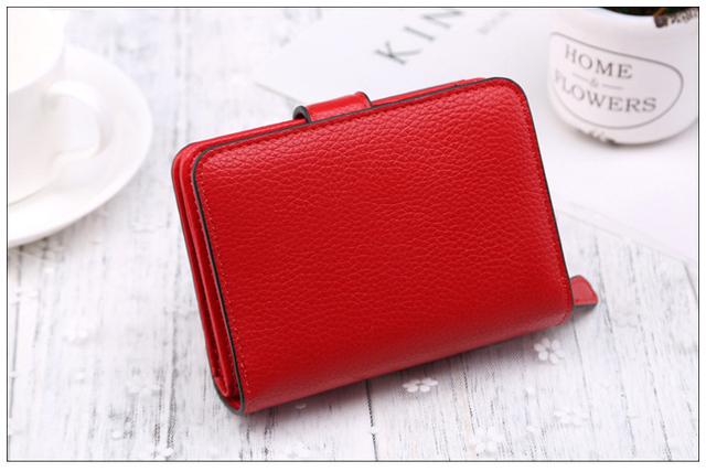 Large Capacity Fashion Women Wallet Short Purses Female Clutch PU Leather Credit card Holder Solid Zipper Bag 4