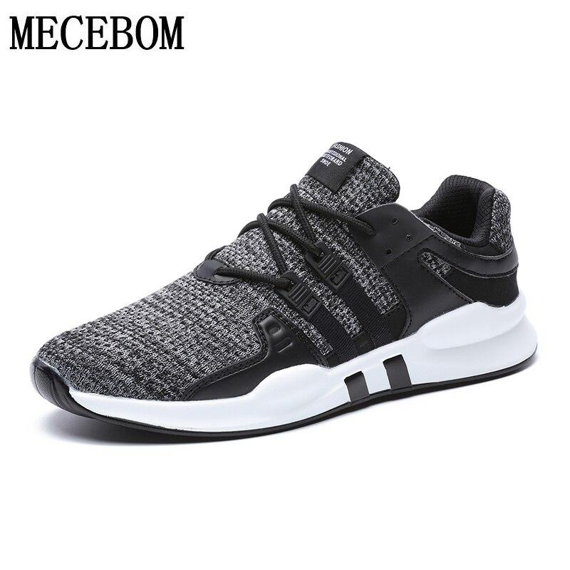 Men Shoes 2018 New Arrival Fashion Mesh Breathable Casual Shoes For Men 6 color Lace-up footwears Plus Size 39-46 716-2m