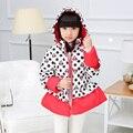Minnie Niños Niñas Abrigo de Invierno Lindo Polka Dot Niñas Bebé de La Manera Outwear Chaqueta Con Capucha Para Niños Chica Caliente Ropa 2-6Years