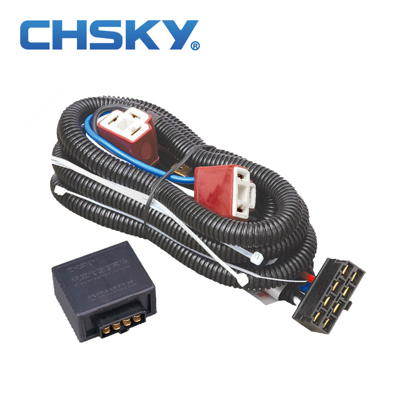 CHSKY Hot sale waterproof 12V font b 2 b font light H4 headlight font b wiring 2 wire harness promotion shop for promotional 2 wire harness on wire harness shop for sale at creativeand.co