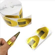 500 шт золотые советы для маникюра, формы для удлинения, руководство, U форма подковы, акриловый УФ-гель, сделай сам, инструмент для маникюра