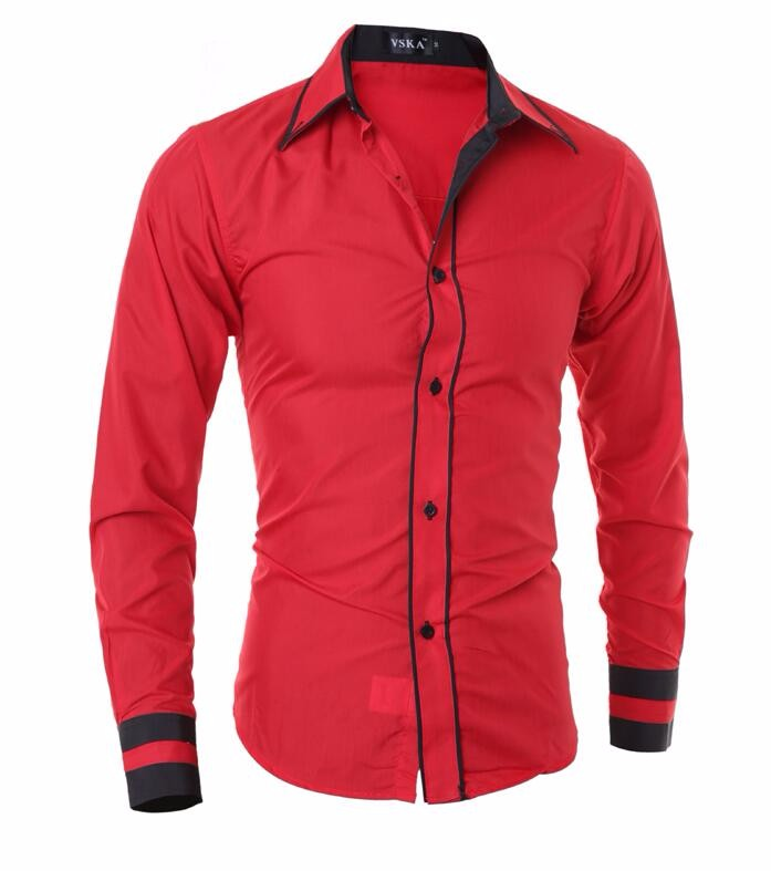 Men Shirt 17 Fashion Brand Men'S Cuff Striped Long-Sleeved Shirt Male Camisa Masculina Casual Slim Chemise Homme XXL SHDWQ 12