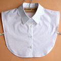 womens collars white cotton pointed scallop collar shirt detachable collar black cotton scallop collar with front buttons open