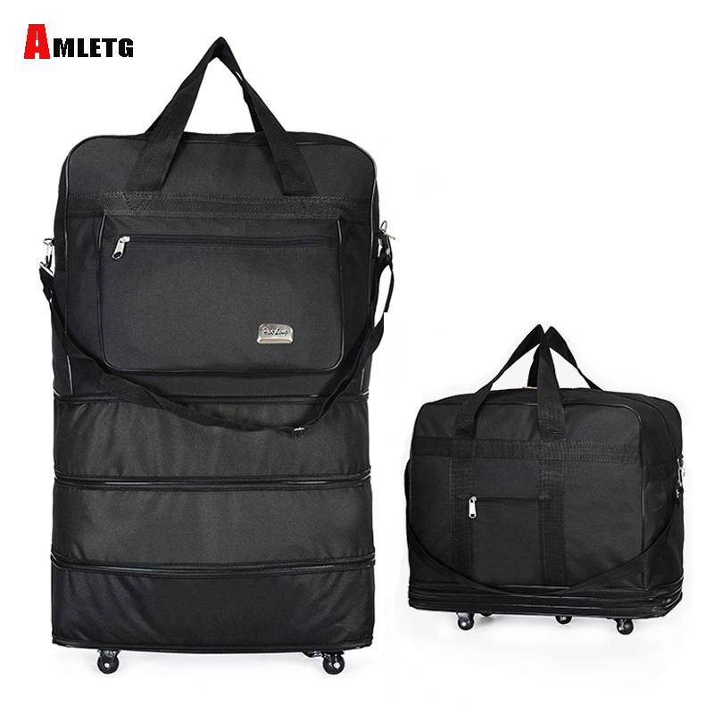 Duffel Portable Travel Bag Rolling Bag Air Roller Expandable