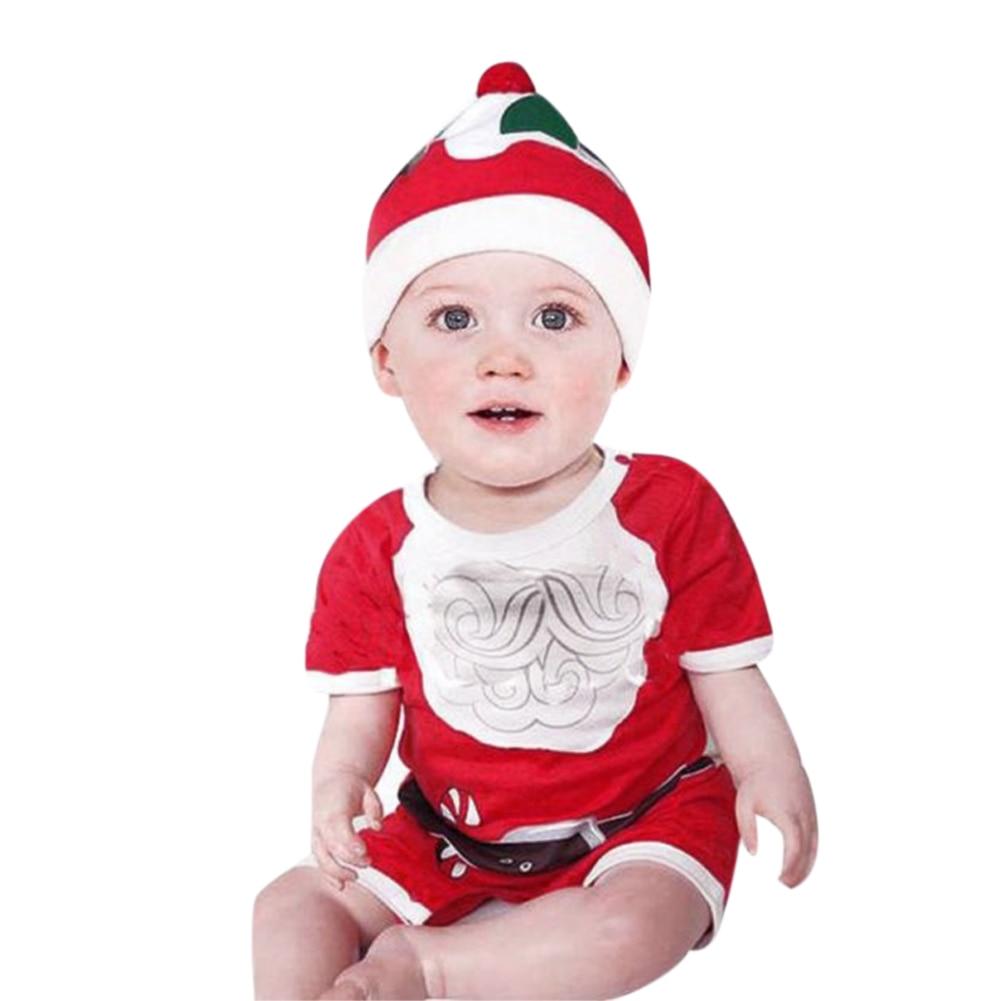 unidsset recin nacido nios navidad ropa de beb de manga corta romper