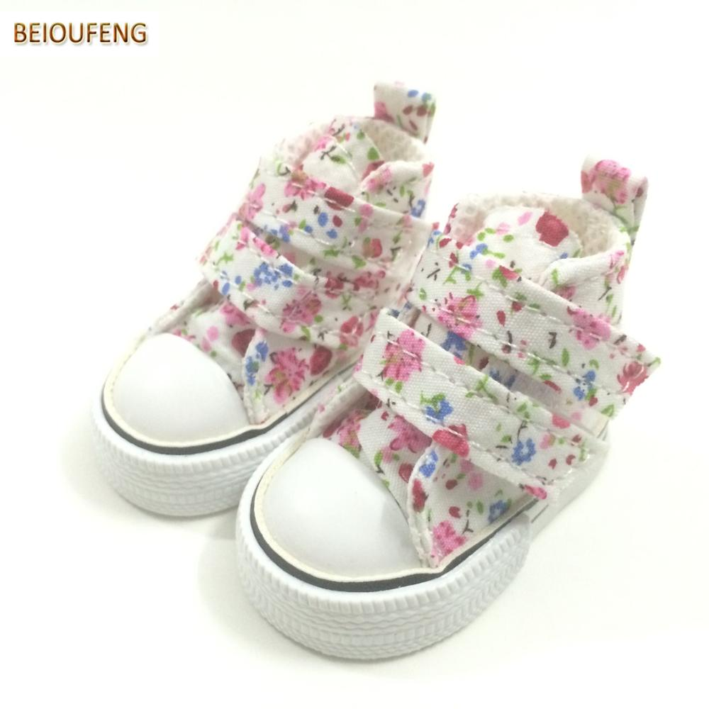 BEIOUFENG Sneakers <font><b>Shoes</b></font> for Paola Reina <font><b>Dolls</b></font> Accessories,<font><b>1/4</b></font> <font><b>BJD</b></font> Footwear Gym <font><b>Shoes</b></font> for <font><b>Dolls</b></font>,6CM <font><b>Doll</b></font> Boots for Puppet <font><b>Doll</b></font> image