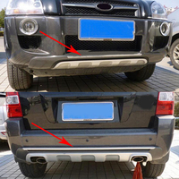 2 Pcs ABS Plastic Front And Rear Bumpers Skid Protector Molding Fit For Hyundai Tucson MK1 2005 2008 2009 2010 Car Accessories