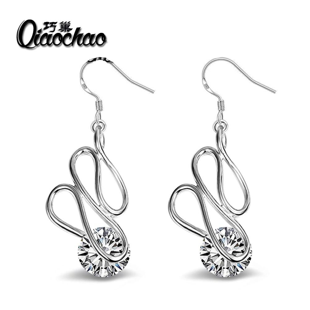 9316860d6 6.4ct 925 Sterling Silver Round Cut Drop Earring Women CZ Cubic Zirconia  Promotion Accessories E76