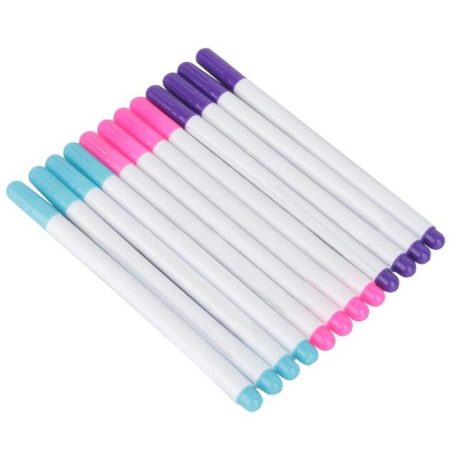 4 sztuk/zestaw Stitch markery rozpuszczalne Cross Stitch wody kasowalna długopisy przelotka atramentu marker do tkanin znakowania długopisy DIY robótki narzędzi do domu
